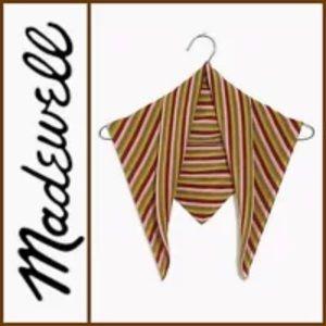 Madewell Bandana Striped Silk Kercheif Square NEW